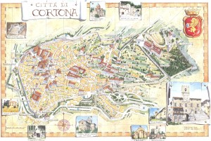 Vecchia mappa di Cortona